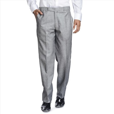 Adam In Style Regular Fit Men's Grey Trousers