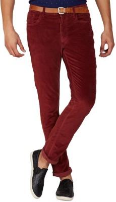 American Swan Slim Fit Men's Maroon Trousers