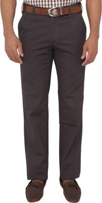 Greenfibre Slim Fit Men's Brown Trousers