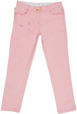 Aristot Regular Fit Girl's Pink Trousers