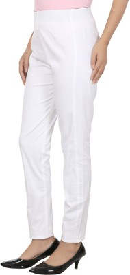 Visach Regular Fit Women's White Trousers
