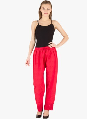 Kritika's World Regular Fit Women's Red Trousers