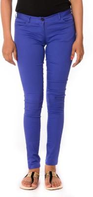 Oviya Skinny Fit Women's Blue Trousers
