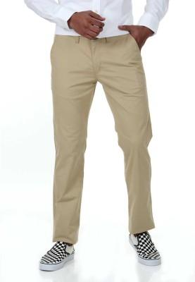 London Fog Slim Fit Men's Cream Trousers