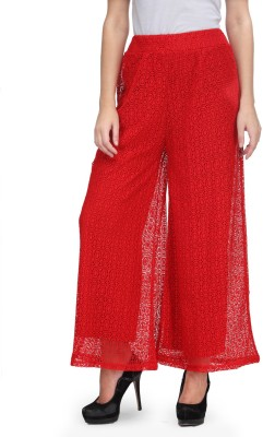 A A Store Slim Fit Women's Red Trousers