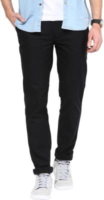 COBB Slim Fit Men's Black Trousers