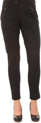 Mustard Regular Fit Women's Black Trousers