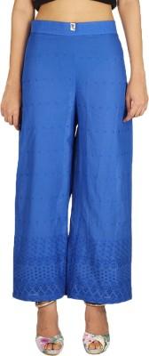 Quetzal Regular Fit Women's Blue Trousers