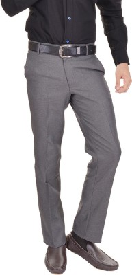 AD & AV Regular Fit Men's Grey Trousers