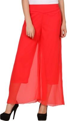 Pretty Angel Regular Fit Women's Orange Trousers