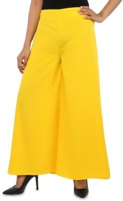 Navyou Regular Fit Women's Yellow Trousers