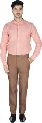 Pescis Regular Fit Men's Brown Trousers
