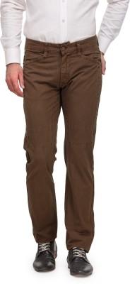 Global Nomad Slim Fit Men's Brown Trousers
