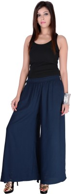Pink Stone Regular Fit Women's Blue Trousers