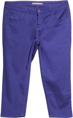 Flying Machine Regular Fit Women's Blue Trousers at flipkart