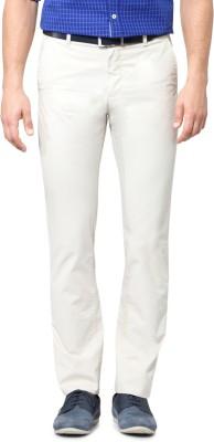 Allen Solly Regular Fit Men,s White Trousers