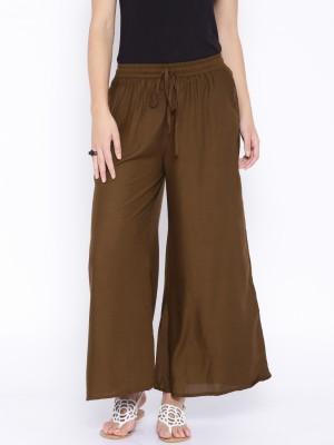 Anouk Regular Fit Women's Brown Trousers