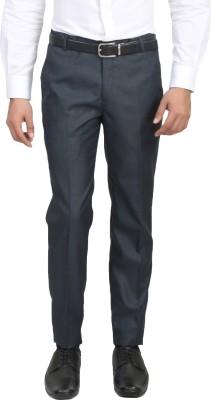 ManQ Slim Fit Men's Blue Trousers