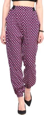 TheGudLook Regular Fit Women's Purple Trousers