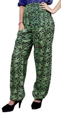 pinksisly Regular Fit Women's Green Trousers