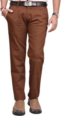 American Noti Skinny Fit Men's Brown Trousers
