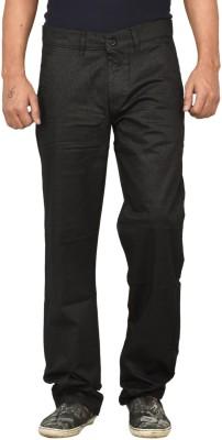 Gamps Regular Fit Men's Black Trousers