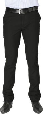 Zido Slim Fit Men's Black Trousers