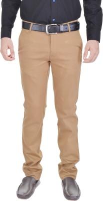 AD & AV Slim Fit Mens Brown Trousers