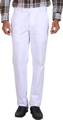 Elfried Slim Fit Men's White Trousers