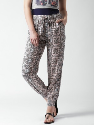 Mast & Harbour Regular Fit Women's Multicolor Trousers at flipkart