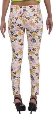 Devis Slim Fit Women's Yellow Trousers