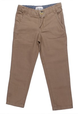 Coffee Bean Regular Fit Boys Beige Trousers