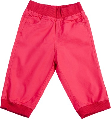 Addyvero Regular Fit Girls Red Trousers