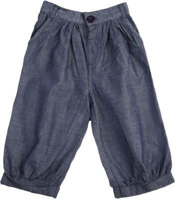 Addyvero Regular Fit Girl's Dark Blue Trousers