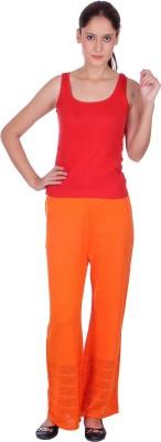 eWools Slim Fit Women's Orange Trousers