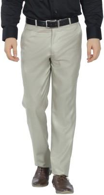 Funky Slim Fit Men's Beige Trousers