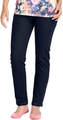 Hbhwear Slim Fit Women's Denim Dark Blue Trousers