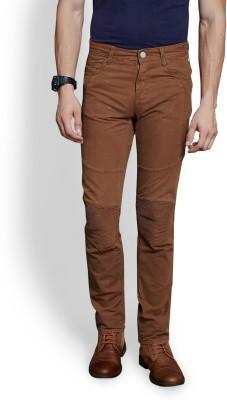 Route 66 Slim Fit Men's Beige Trousers