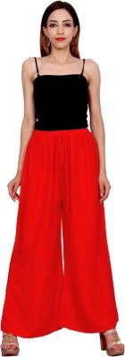 Mokshi Regular Fit Women's Red Trousers at flipkart