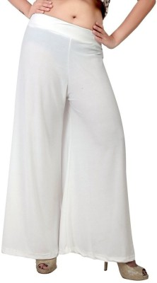 Fashionkala Regular Fit Women's White Trousers