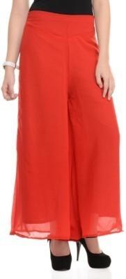 Maya Apparels Regular Fit Women's Red Trousers