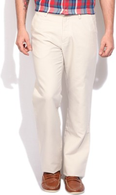 Arrow Sports Regular Fit Mens White Trousers