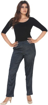 Fast n Fashion Regular Fit Women's Dark Blue Trousers at flipkart
