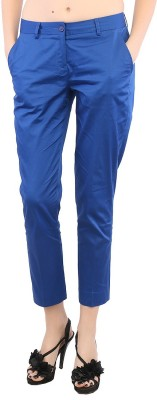 F Fashion Stylus Slim Fit Women,s Blue Trousers