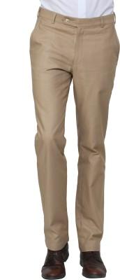 See Designs Regular Fit Men's Beige Trousers