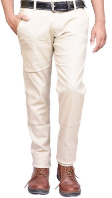 British Terminal Slim Fit Men's White Trousers