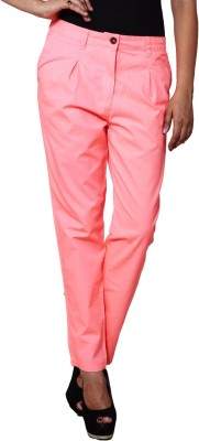Prakum Regular Fit Women's Orange Trousers