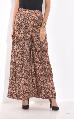 Desi Weaves Regular Fit Women's Maroon Trousers