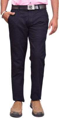 British Terminal Slim Fit Mens Dark Blue Trousers