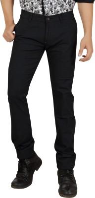 Private Image Slim Fit Men's Black Trousers